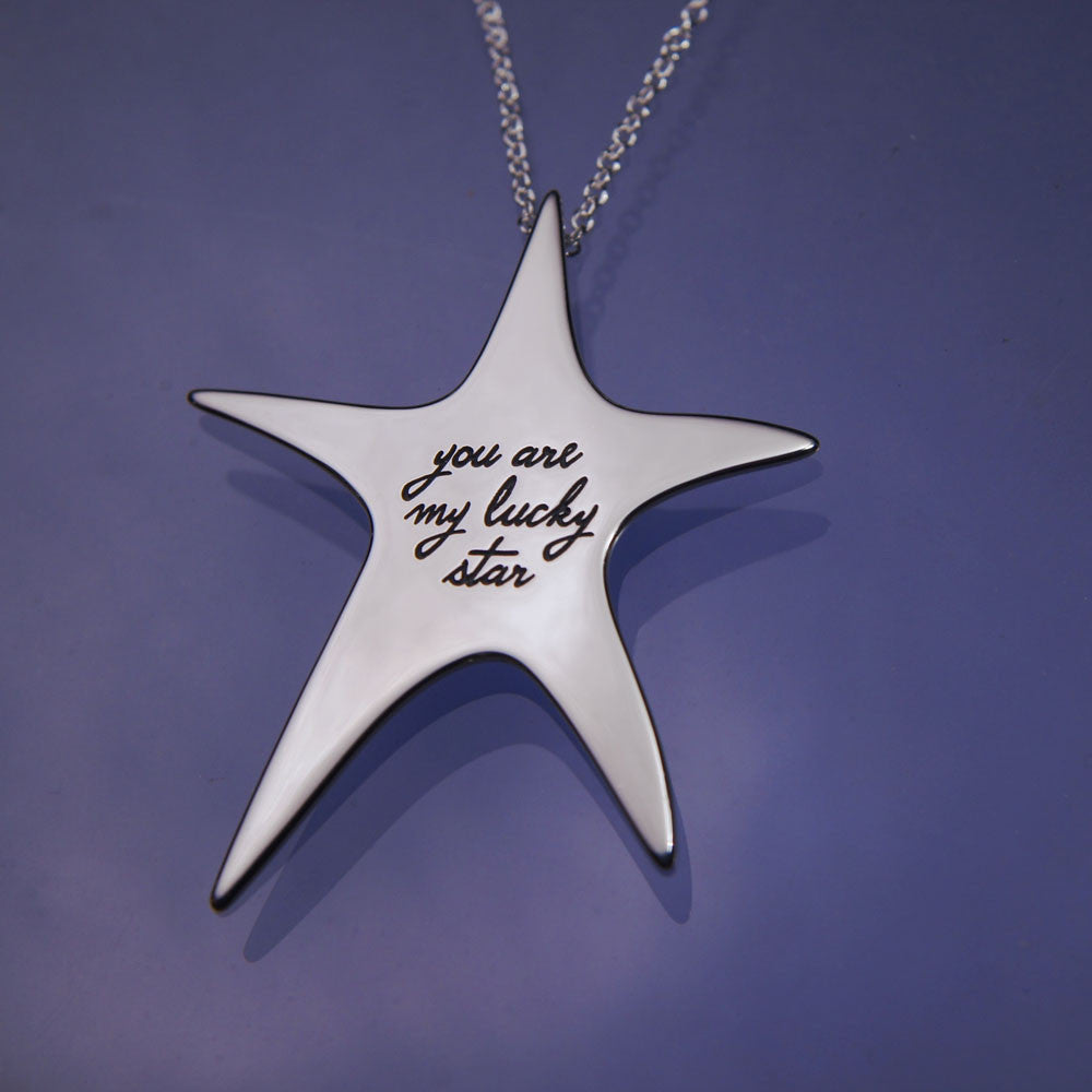 You Are My Lucky Star Sterling Silver Necklace
