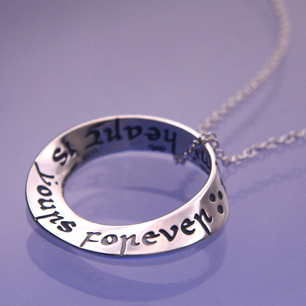 Italian Yours Forever Sterling Silver Mobius Necklace
