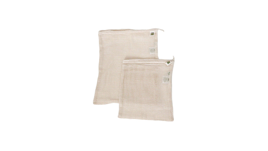 zero waste organic cotton mesh produce bag bundle norapola
