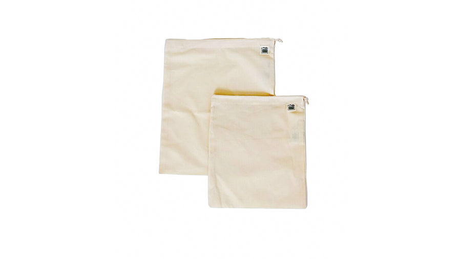zero waste organic cotton produce bag bundle norapola