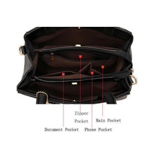 Load image into Gallery viewer, Top-Handle Multi-pocket Handbag Shoulder Bag