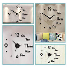 Load image into Gallery viewer, Modern Minimalist DIY Punch-free wall Clock