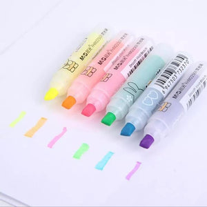 Kawaii Mini Highlighters: Set of 6