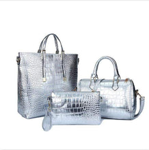 Load image into Gallery viewer, 3Pcs Luxury Crocodile Leather Ladies Handbag