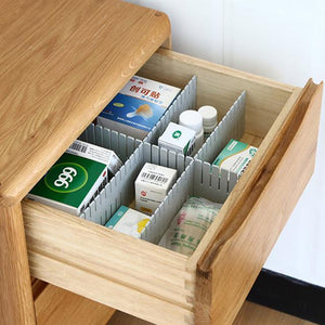 ¡¾Limited Promotion¡¿4PCS Drawer Dividers For Cosmetic, Clothes, Kitchenware,or Medicine Storage
