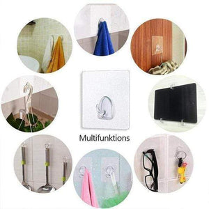Seamless Reusable Self-Adhesive Hooks (10 PCS)