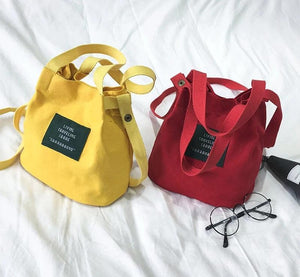 Chic Canvas Tote Bag: 6 colors