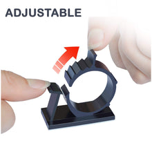 Load image into Gallery viewer, Self-Adhesive Adjustable Cable Clips - 10 PCS