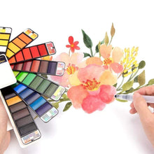 Load image into Gallery viewer, Solid Pigment Paint Set for Watercolor Brush Painting