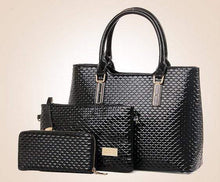 Load image into Gallery viewer, 3Pcs Luxury Snake Leather Ladies Handbag