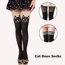 Load image into Gallery viewer, Black Knee High Catyhose