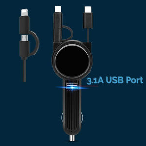 Car Logo Three-In-One Charging Cable