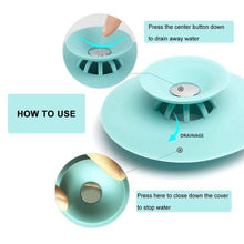 Load image into Gallery viewer, Press Type Anti-Clogging Silicone Sink Strainer - 3pcs