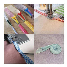 Load image into Gallery viewer, 5 Size Bias Tape Maker Tools Set 6mm 9mm 12mm 18mm 25mm Fabric DIY Sewing Quilting Bias Binding Maker Kit