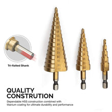 Load image into Gallery viewer, ALL-IN-ONE Step Drill Bit Set (3/6 PCS)