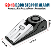 Load image into Gallery viewer, 120dB Door Stopper Security Alarm