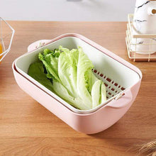 Load image into Gallery viewer, Double Plastic Vegetable Washing Basket