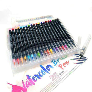 Premium Watercolor Brush Pens: Set of 20