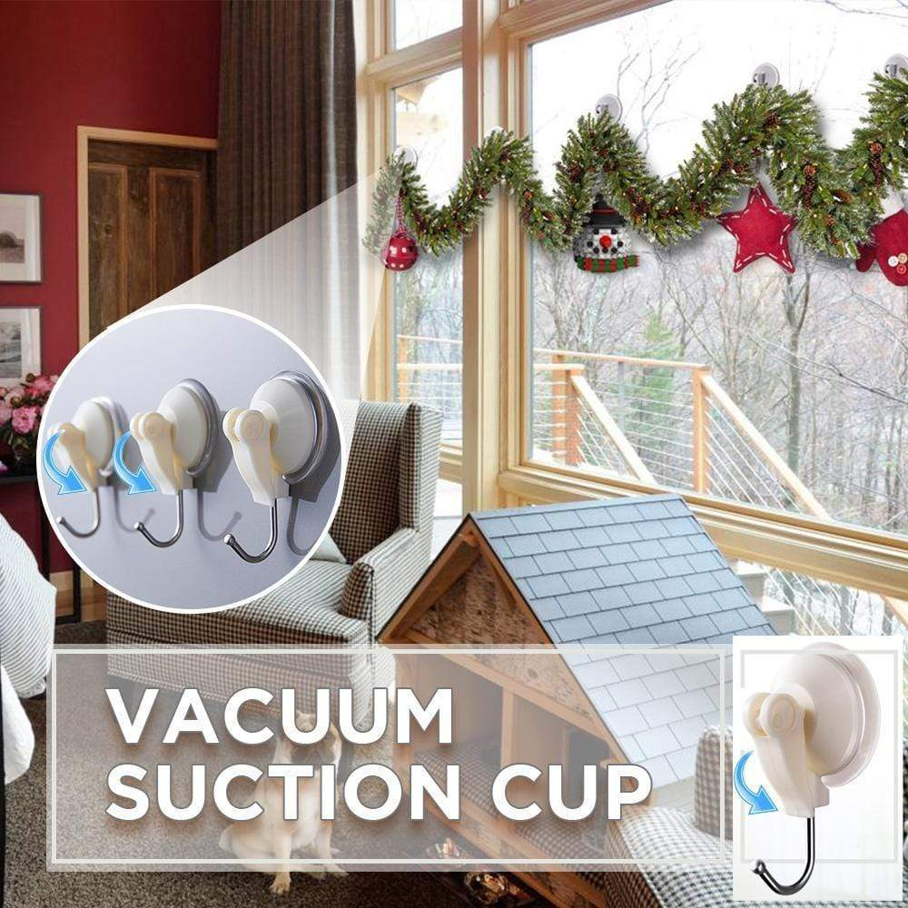 Vacuum Suction Cup Hooks - Set For 3