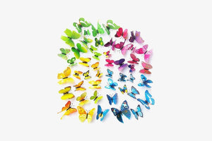 Butterfly 3D Wall Stickers (12 Pieces Set)