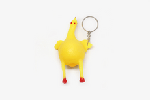 Load image into Gallery viewer, Chicken Laying Egg Keychain