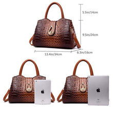 Load image into Gallery viewer, (New Year's Promotion!) Vintage Fashion Crocodile Genuine Leather Luxury Handbags
