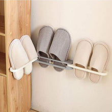 Load image into Gallery viewer, Wall Mounted Folding Slippers Rack