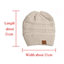 Load image into Gallery viewer, Soft knitting Horsetail Cap
