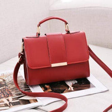 Load image into Gallery viewer, PU Shoulder Bag Small Flap Crossbody Bags
