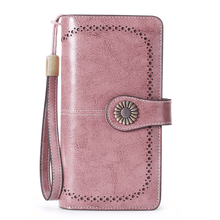 Load image into Gallery viewer, Anti-RFID Luxury Women Leather Wallet