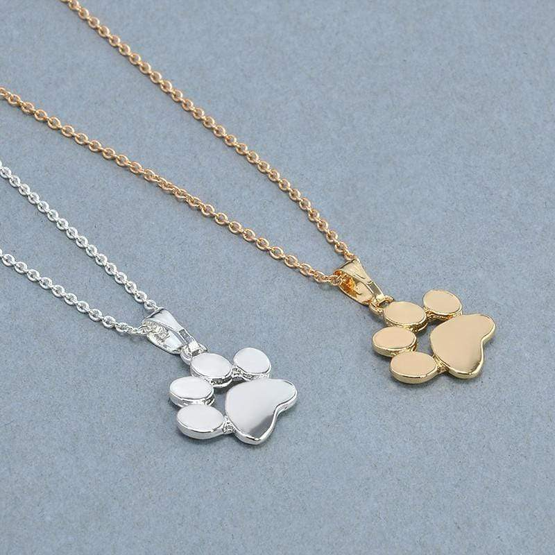 Paw Pet Choker Necklace Pendant