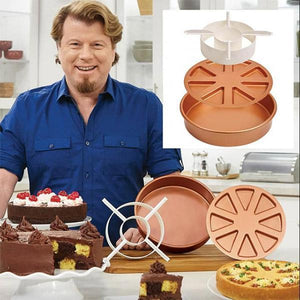 3-in-1 Copper Mold Cake Pan