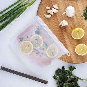 Reusable Food Storage Bags (FDA Approved Silicone)