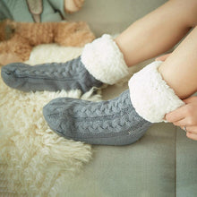 Load image into Gallery viewer, Sherpa Lined Slipper Socks