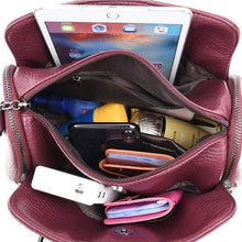 Load image into Gallery viewer, Large Capacity Multi Pockets Woven Tote Women Leather Handbag