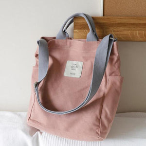 Aesthetic Canvas Tote Bag: 5 colors