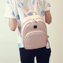 Load image into Gallery viewer, Chic Leather Backpack: 3 colors