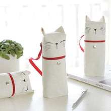 Load image into Gallery viewer, Expressive Kitty Standing Pencil Case