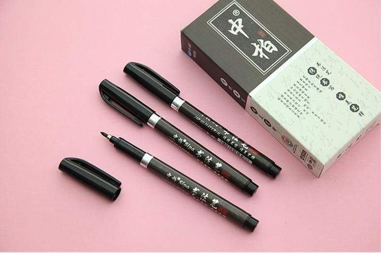 Set of 3: Classic Calligraphy Brush Pens