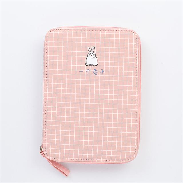 Cute Stationery Organizer: 6 Checkered Animal Designs