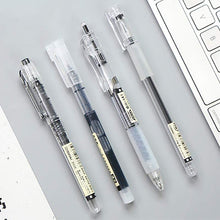 Load image into Gallery viewer, MUJI Style Black Gel Pens: Set of 4