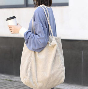 Large Cord Eco Tote Bag: 5 colors