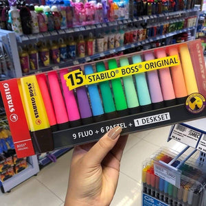 STABILO Boss Original Pastel and Neon Highlighters: Set of 6, 9, 15