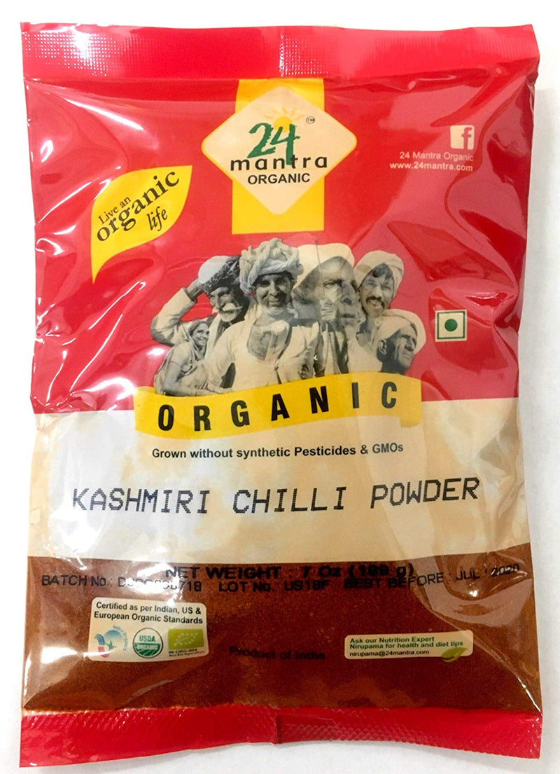 24 Mantra Organic Kashmiri Red Chili Powder 7oz