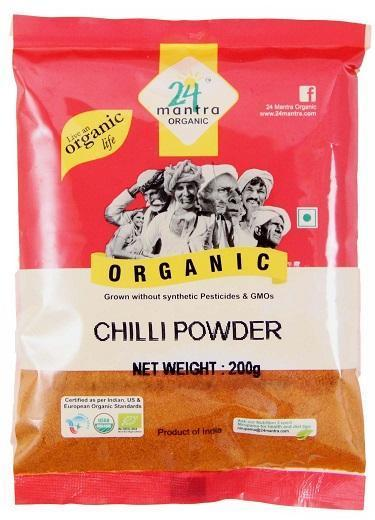 24 Mantra Organic Red Chili Powder 200gm