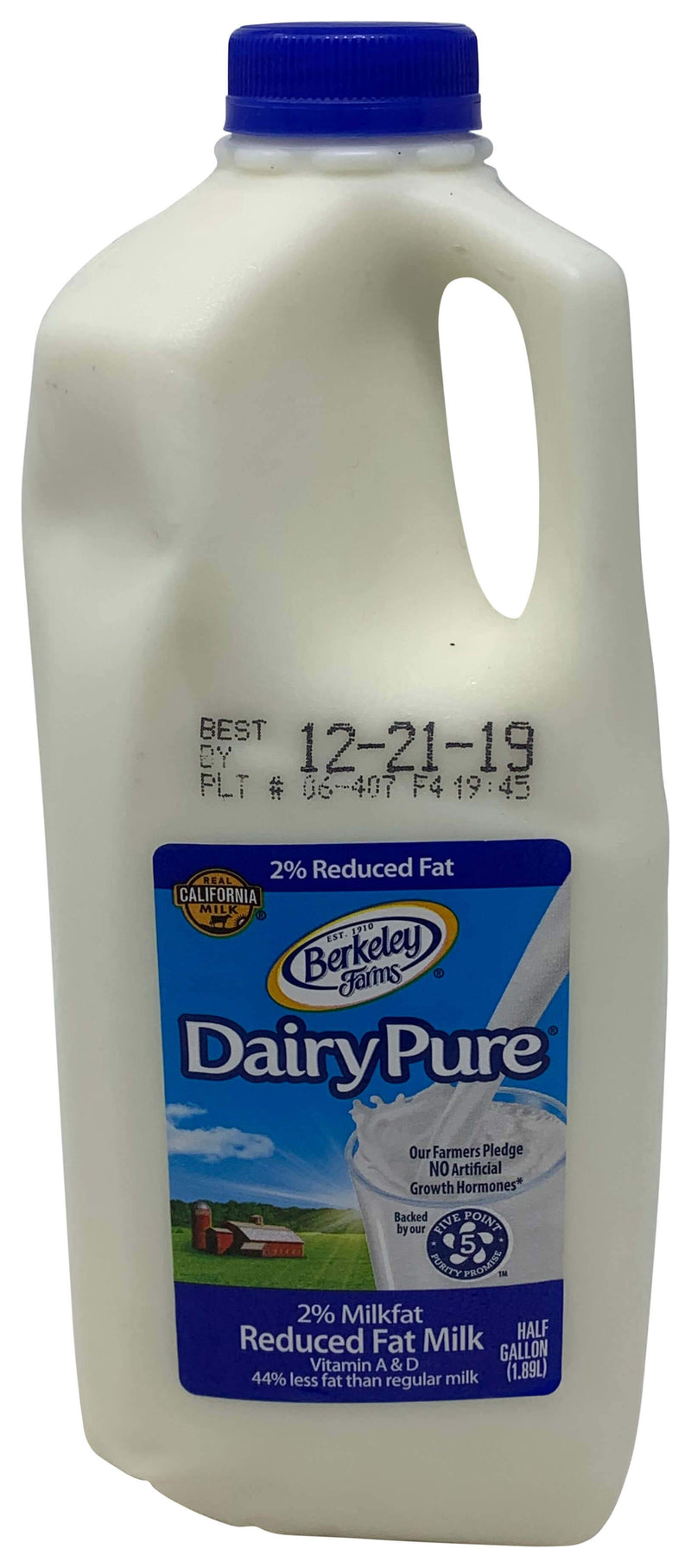 Berkley Dairy Pure Reduced Fat 2% Milk Half Gallon