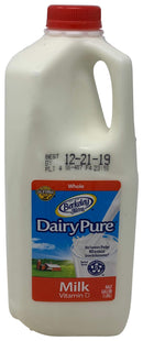 Berkley Dairy Pure Whole Milk Half Gallon