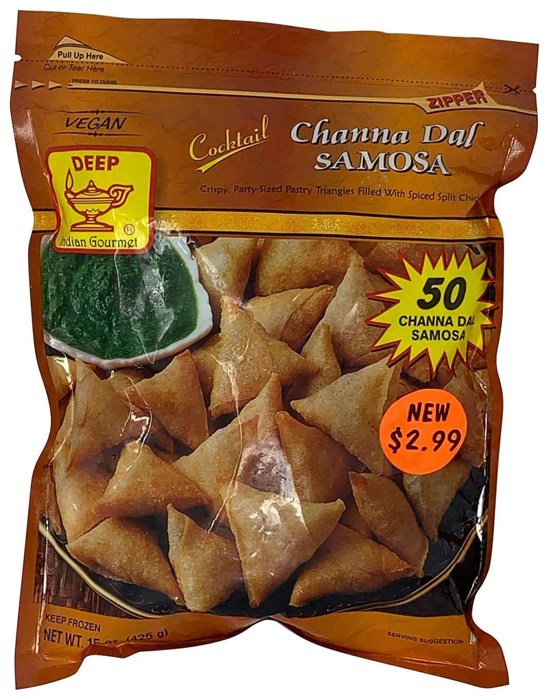 Deep Frozen Cocktail Channa Dal Samosas 50 Count