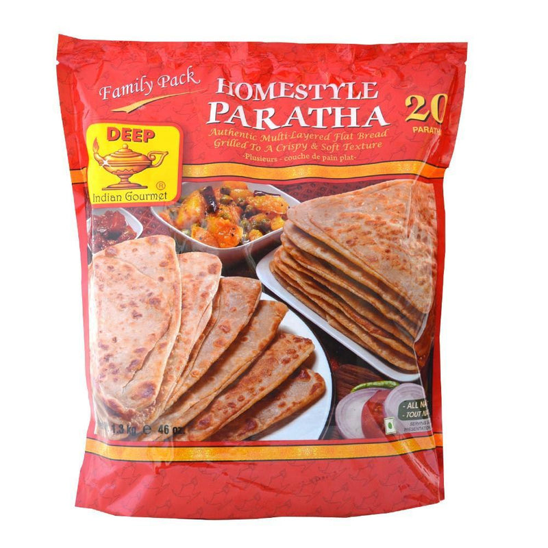 Deep Frozen Homestyle Paratha Family Pack 20 Count