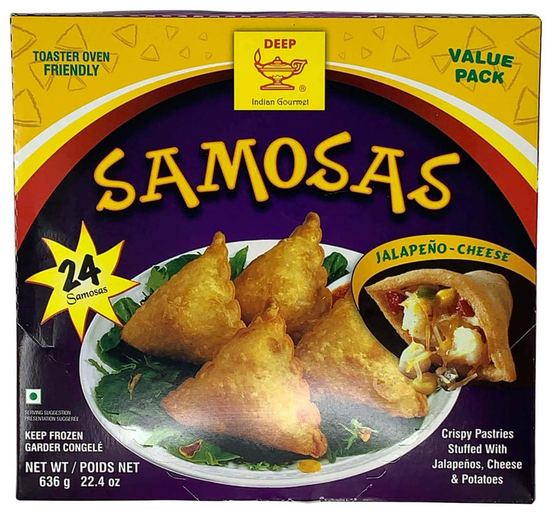Deep Frozen Party Samosas Jalapeno Cheese 24 Count